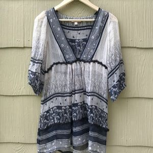 Lux | Boho Silk Blouse | Medium
